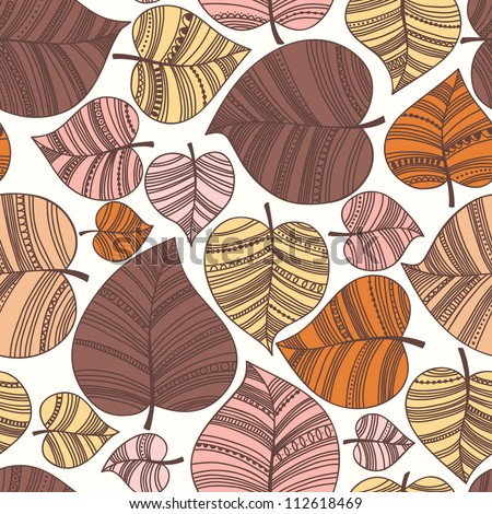 Seamless pattern with leafs. Autumn leaf background.