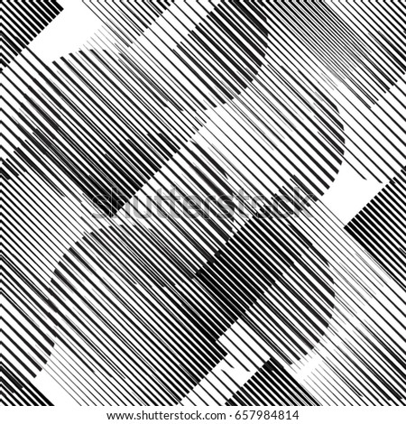 Seamless pattern with lines.Squares and circles unusual poster Design .Black Vector stripes .Geometric shape.