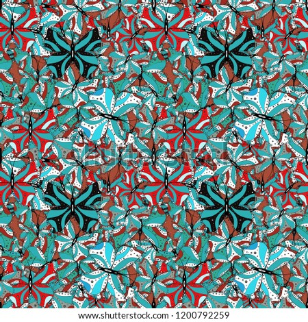 seamless pattern with lot of