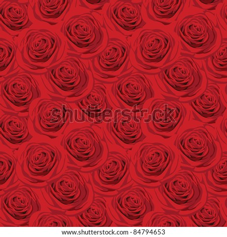 Seamless pattern with luxurious red roses