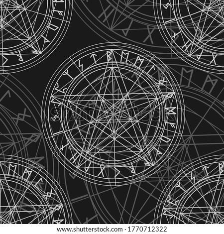 seamless pattern with magic