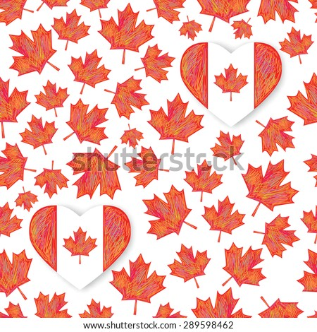 seamless pattern with  maple