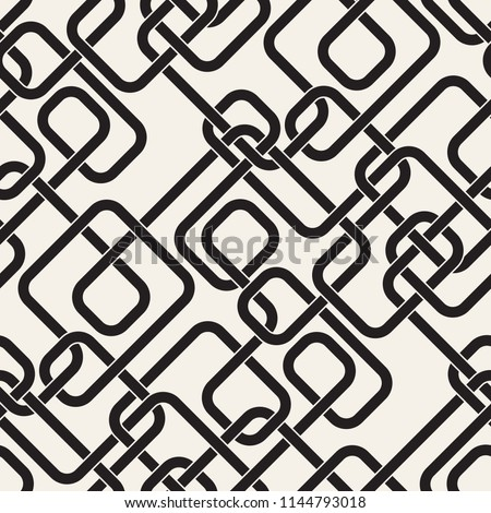 Seamless pattern with maze or labyrinth. Monochrome abstract background. Vector geometric texture.