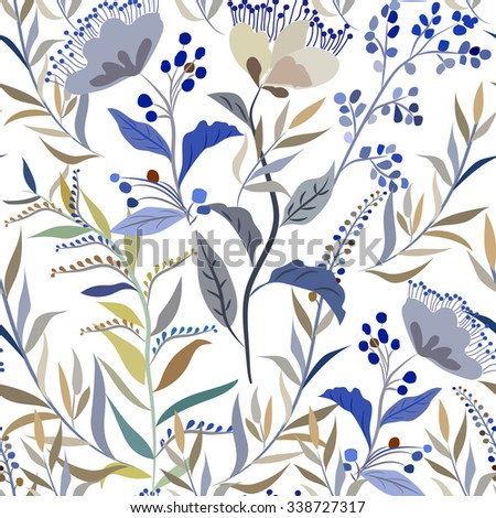 seamless pattern with meadow