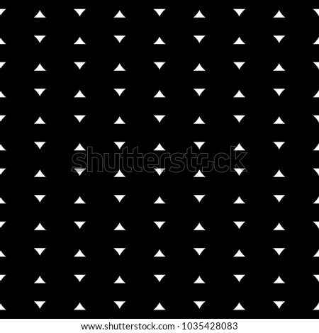 Seamless pattern with mini triangles. Arrowheads background. Image with repeated geometrical figures. Arrow heads motif. Grid wallpaper. Ethnic illustration. Digital paper, textile print, web. Vector.