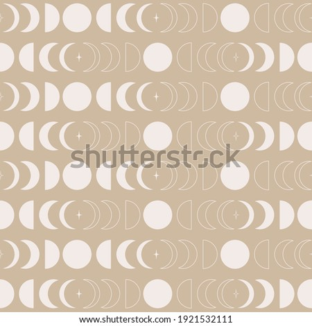 seamless pattern with moon