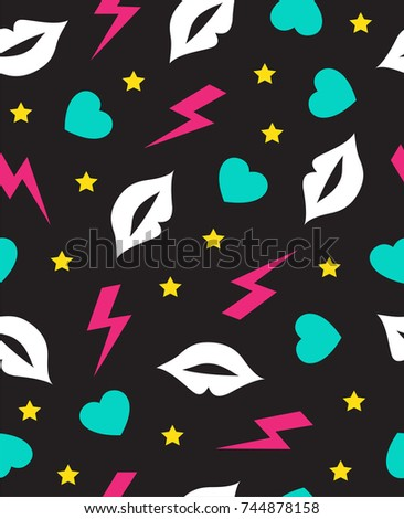 seamless pattern with mouth