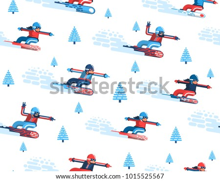 seamless pattern with moving