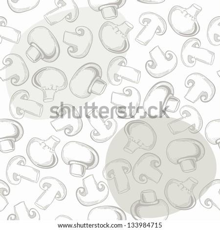 seamless pattern with mushroom