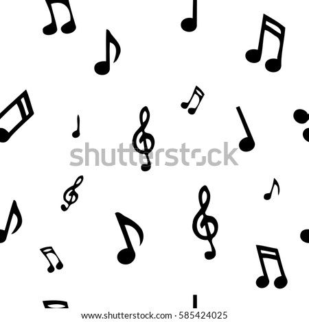 seamless pattern with music