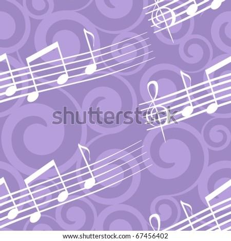 seamless pattern with music score