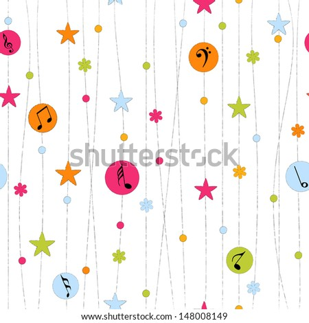 seamless pattern with musical