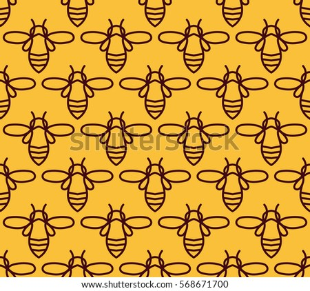 Free Honey Pattern Vector Download Free Vector Art Stock Graphics Stunning Bee Pattern