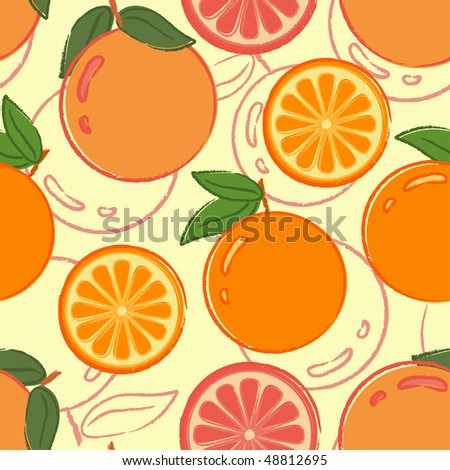 Seamless pattern with oranges