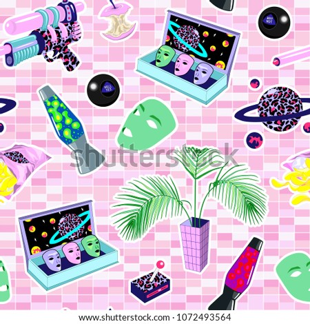 seamless pattern with patches