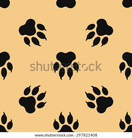 seamless pattern with paw print