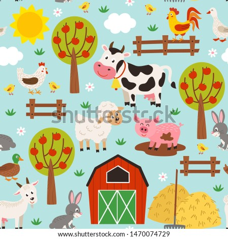 seamless pattern with pets in