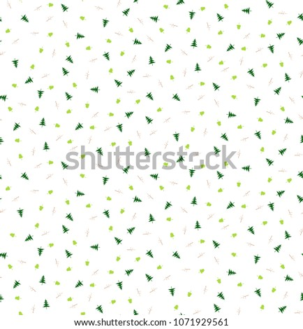 seamless pattern with pine tree