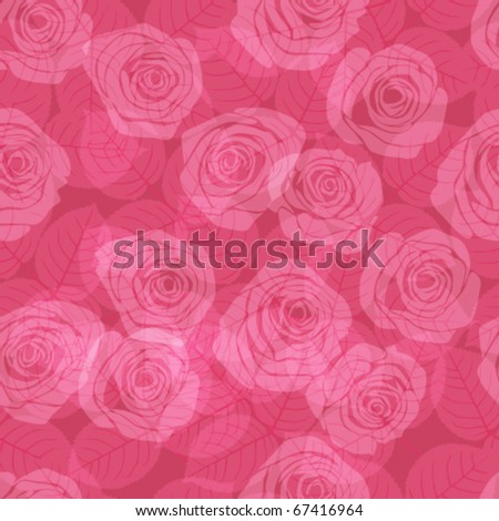 seamless pattern  with pink  roses - stock vector