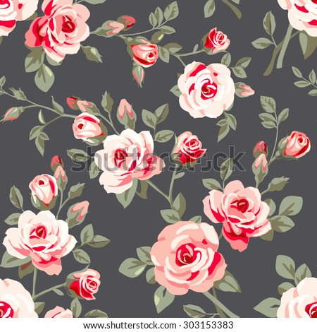 seamless pattern with pink