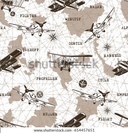 seamless pattern with planes