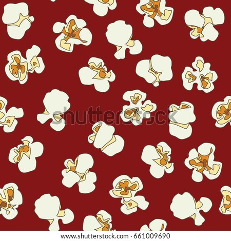 Seamless pattern with popcorn