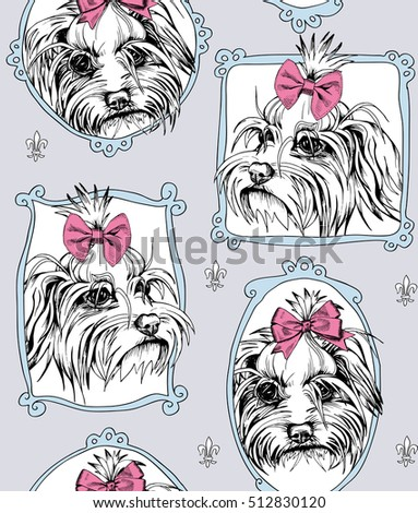 seamless pattern with portrait