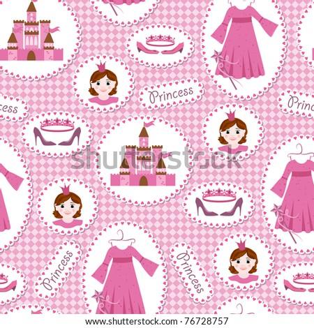 seamless pattern with princess