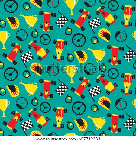 seamless pattern with racing...