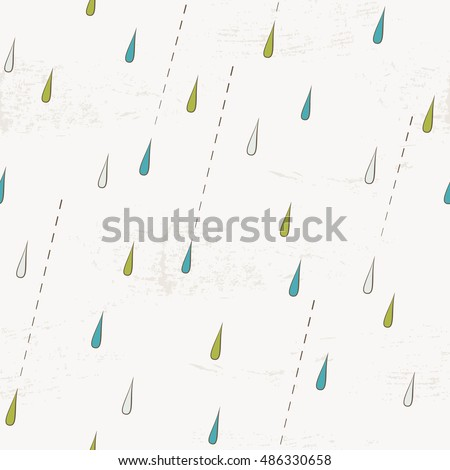 seamless pattern with rain