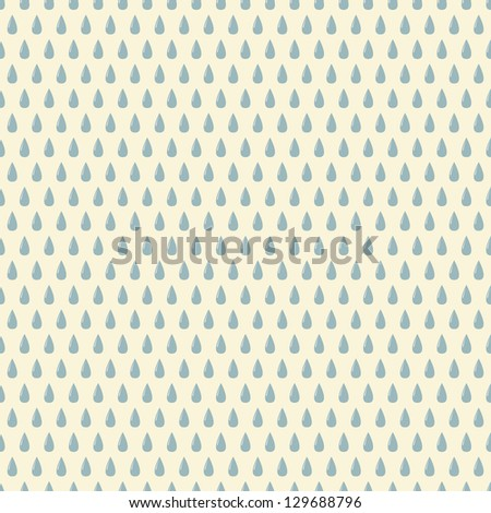 Seamless pattern with rain drops. Can be used to fabric design, wallpaper, decorative paper, web design, etc. Swatches of seamless patterns included in the file.