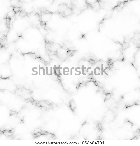 Seamless pattern with realistic marble texture in white and gray color. Vector illustration.