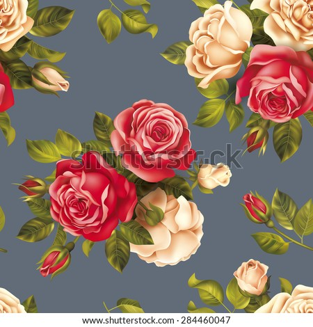 seamless pattern with red and