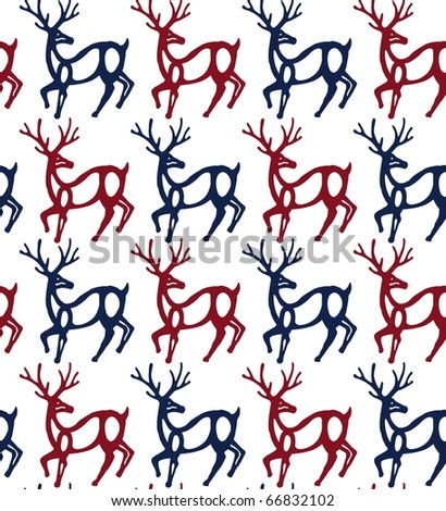 seamless pattern with reindeer