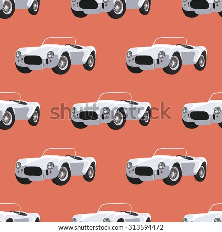 seamless pattern with retro
