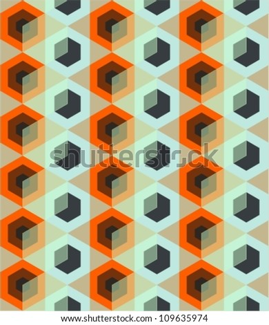 Seamless pattern with rhombus. Vector illustration