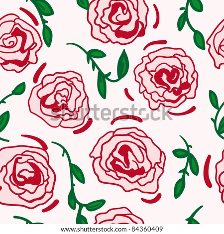 Seamless pattern with rose design