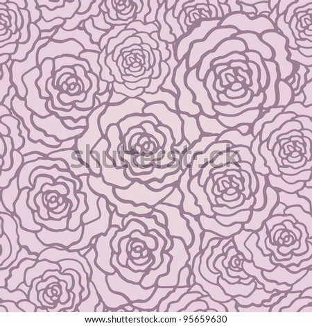 Seamless pattern with roses. Floral background.