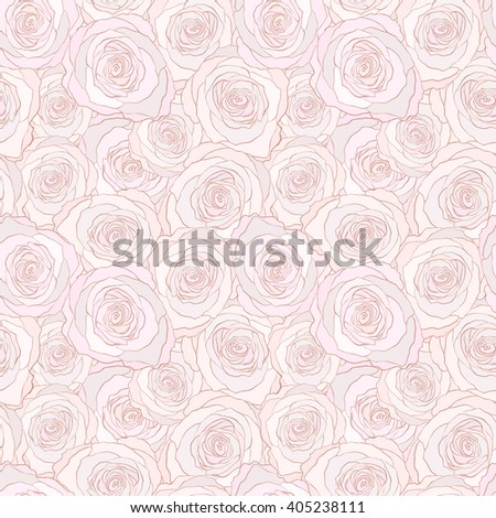 seamless pattern with roses. floral vector background