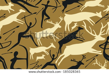seamless pattern with scene of...