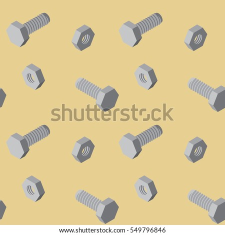 Seamless pattern with screws