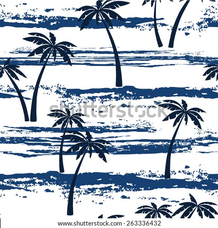 seamless pattern with sea and