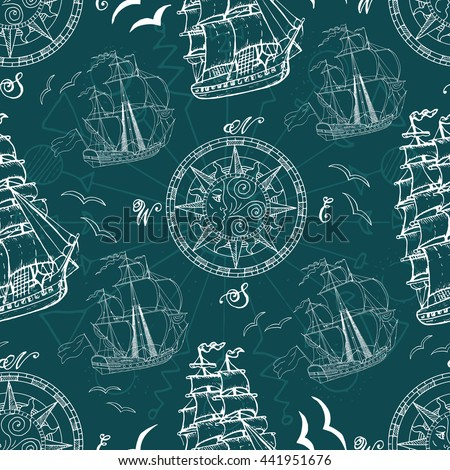 seamless pattern with sea