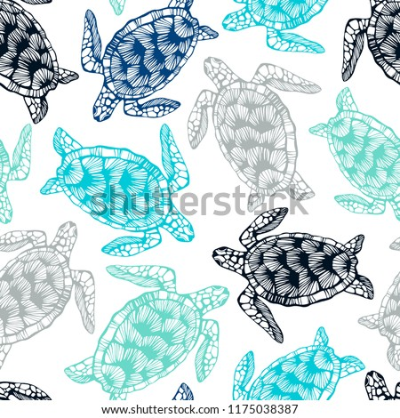 stock-vector-seamless-pattern-with-sea-turtles