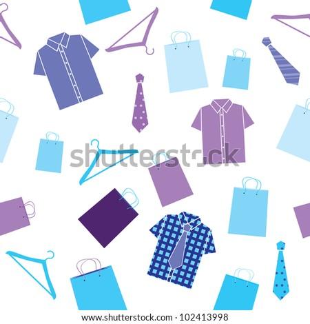 seamless pattern with shirts