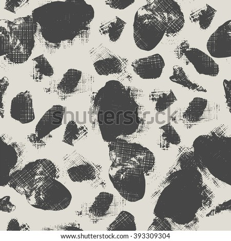 Seamless pattern with sketch circles. #393309304