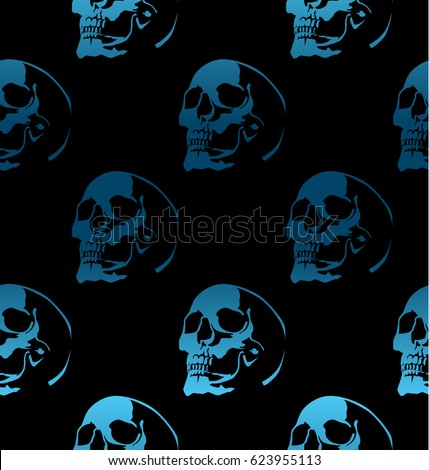 seamless pattern with skulls on