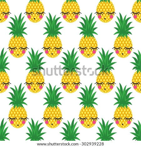 seamless pattern with smiling