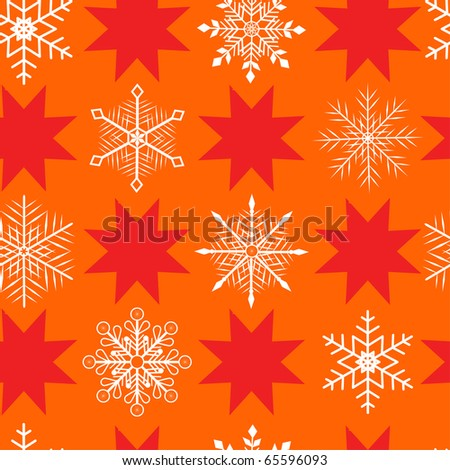seamless pattern with snowflakes and christmas stars. vector.