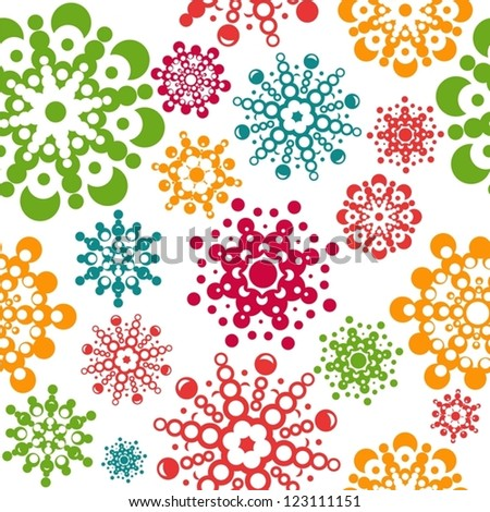 seamless pattern with snowflakes. global colors used. layered vector. Eps8